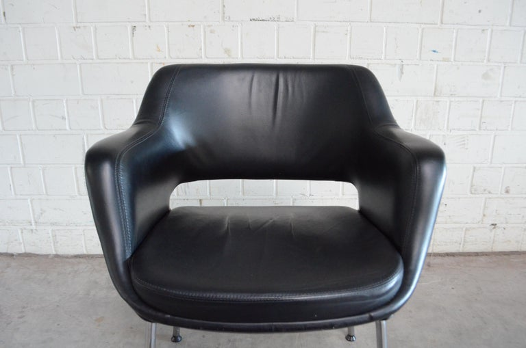 Olli Mannermaa Pair of Leather Kilta Chair by Eugen Schmidt & Cassina Martela For Sale 13