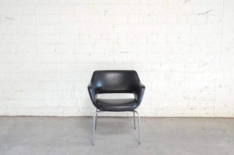 20th Century Olli Mannermaa Pair of Leather Kilta Chair by Eugen Schmidt & Cassina Martela For Sale