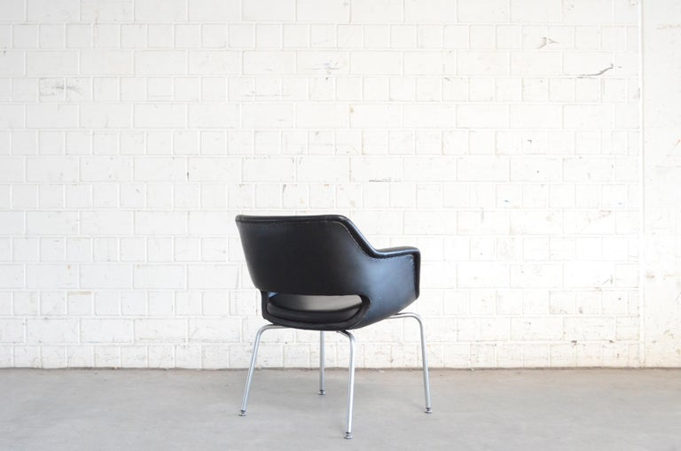 Steel Olli Mannermaa Pair of Leather Kilta Chair by Eugen Schmidt & Cassina Martela For Sale