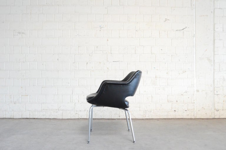 Olli Mannermaa Pair of Leather Kilta Chair by Eugen Schmidt & Cassina Martela For Sale 1