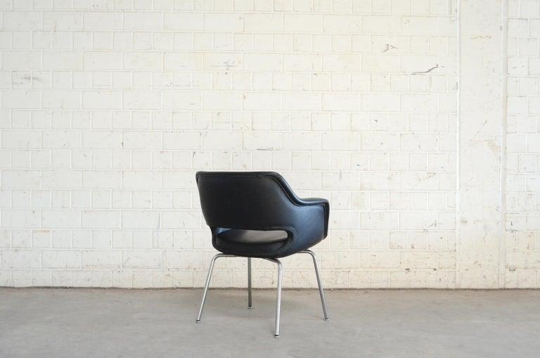Olli Mannermaa Set of 4 Leather Kilta Chair by Eugen Schmidt & Cassina Martela For Sale 3