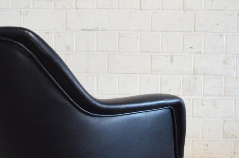 Olli Mannermaa Set of 4 Leather Kilta Chair by Eugen Schmidt & Cassina Martela For Sale 12