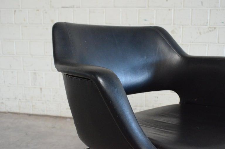 Olli Mannermaa Set of 4 Leather Kilta Chair by Eugen Schmidt & Cassina Martela For Sale 13