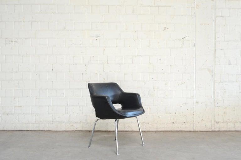 Olli Mannermaa Set of 4 Leather Kilta Chair by Eugen Schmidt & Cassina Martela For Sale 1