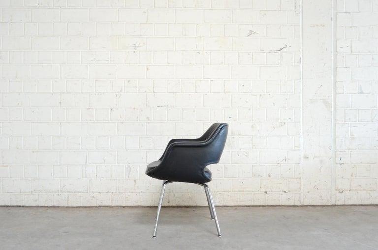Olli Mannermaa Set of 4 Leather Kilta Chair by Eugen Schmidt & Cassina Martela For Sale 2