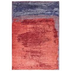 Oltre, Mood Indigo Carpet, Hand Knotted, 100 Knots, Hemp, MarCo Carini