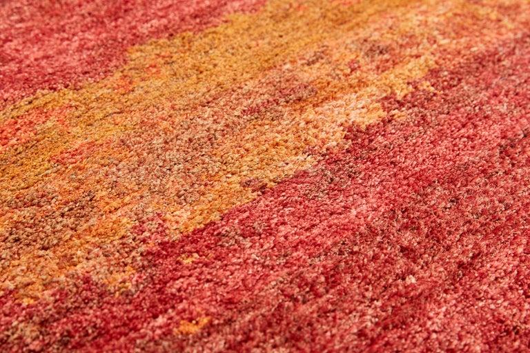 Modern Oltre, Sunny Carpet, Handknotted, 100knots, Hemp, MarCo Carini For Sale
