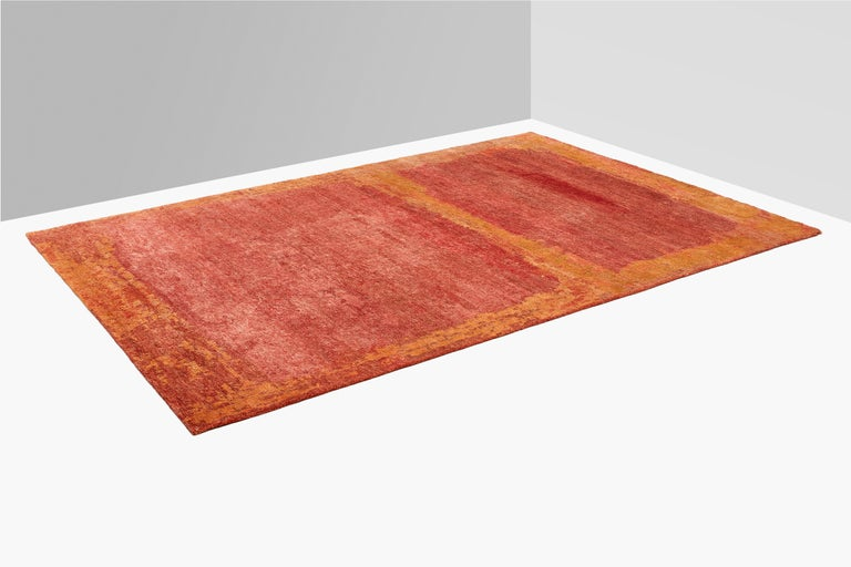 Nepalese Oltre, Sunny Carpet, Handknotted, 100knots, Hemp, MarCo Carini For Sale