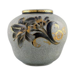 Oluf Jensen for Royal Copenhagen, Unique Vase in Crackled Porcelain, 1929