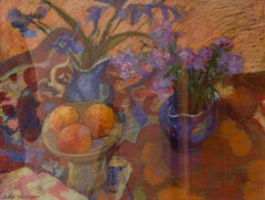 Impressionist Piece of Flowers & Fruit - Pastel by Olwen Tarrant