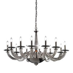 Olympia Gray Chandelier with 12 Lights