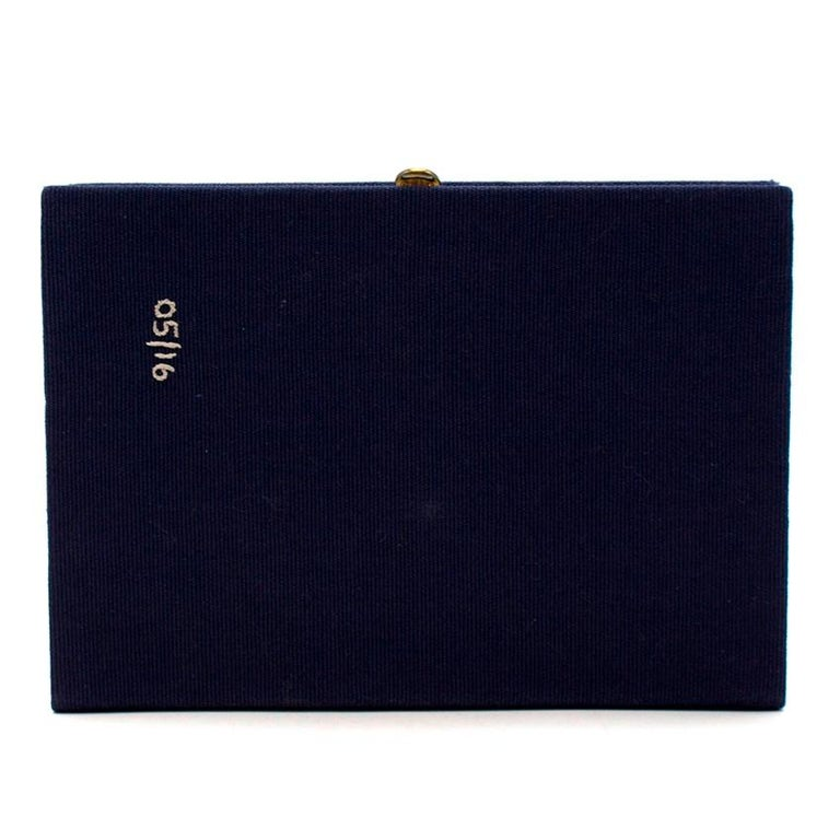 Black Olympia Le Tan 'Better Clothes For Your Money' Book Clutch For Sale