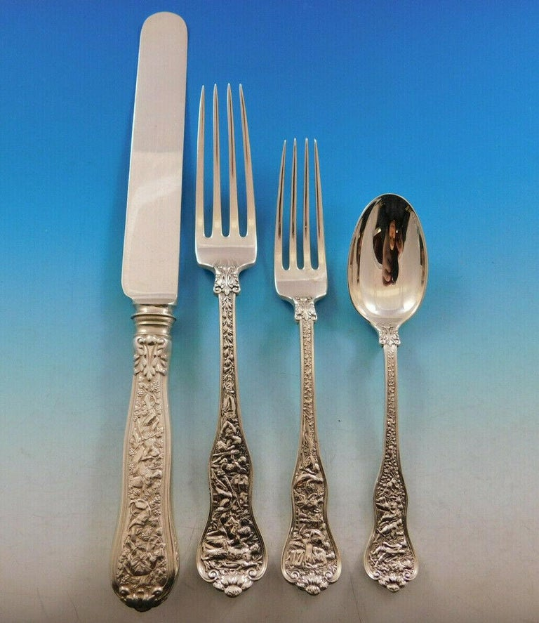 Olympian, Tiffany & Co. Sterling Silver Flatware Service for 8 Set 40 Pc Dinner In Excellent Condition For Sale In Big Bend, WI