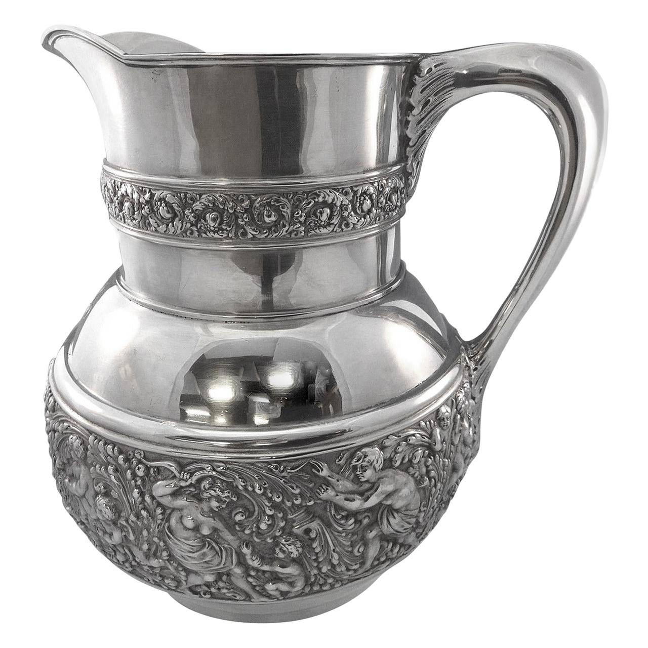 Olympian/Cupid by Tiffany & Co. Sterling Silver Water Pitcher Figural Hollowware