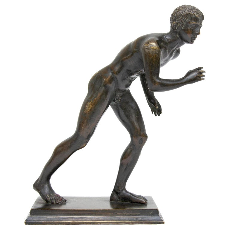 Olympic Runner Bronze Grand Tour Sculpture For Sale