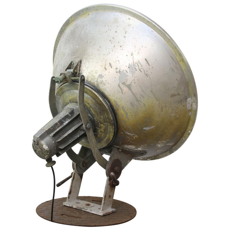 Dutch Olympic Stadium Amsterdam Extra Large Vintage Industrial Metal Floor Lamp For Sale