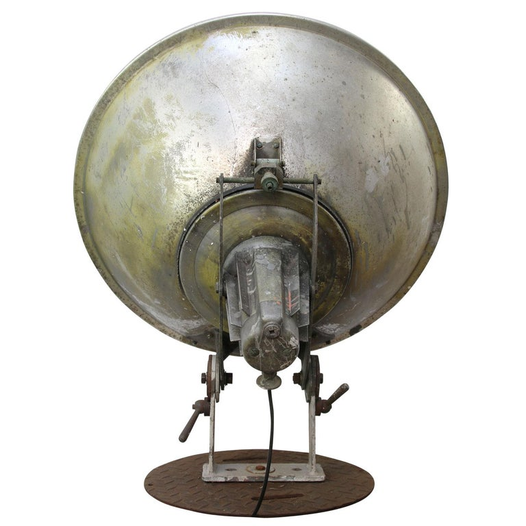 Cast Olympic Stadium Amsterdam Extra Large Vintage Industrial Metal Floor Lamp For Sale