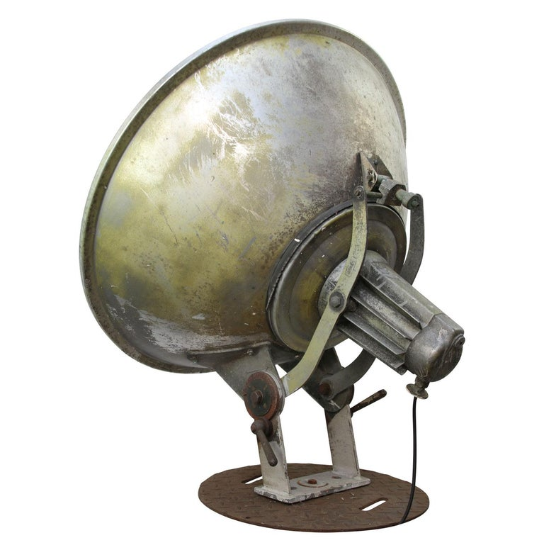 Olympic Stadium Amsterdam Extra Large Vintage Industrial Metal Floor Lamp In Fair Condition For Sale In Amsterdam, NL