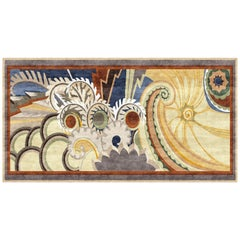 Olympus, Designer Contemporary Hand Knotted Wool Silk Rug