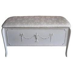 Olympus, French Louis Style Ottoman or Blanket Box
