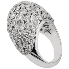 Olympus Art Certified, Diamond and White Gold 18 Karat Fashion Ring