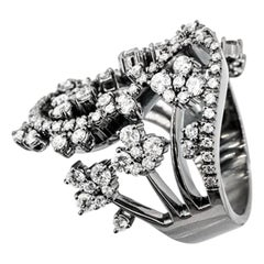 Olympus Art Certified, Diamond, White Gold Black Grinding Fashion Ring