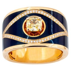 Olympus Art Certified Queen Eye Diamond and Rose Gold Ring