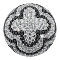 Olympus Art Cretified, White Gold, Diamond Black Fashion Ring