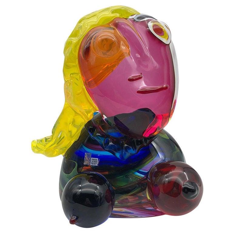 Omaggio a Picasso Sculpture by Toso Cristiano For Sale