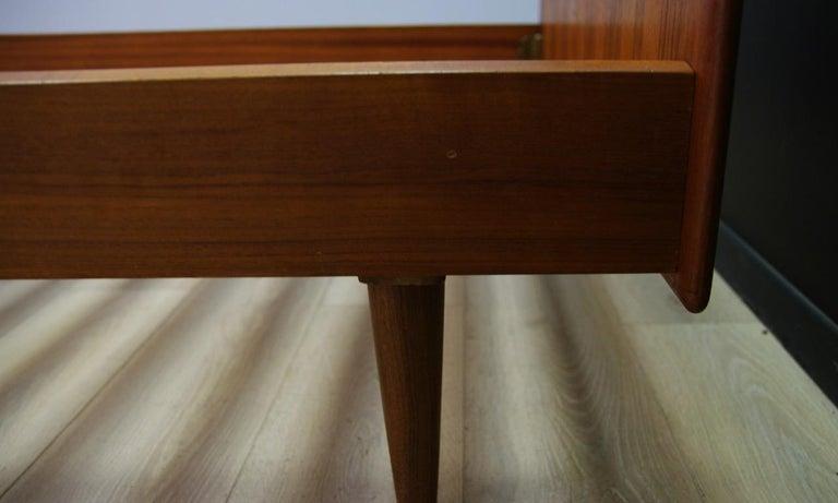 Late 20th Century Omann Jun Brown Bed Teak Danish Design, 1960s For Sale