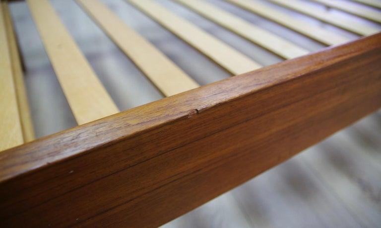 Omann Jun Brown Bed Teak Danish Design, 1960s For Sale 1