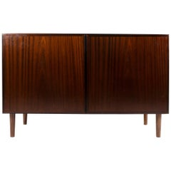 Omann Jun Rosewood Sideboard, Credenza with Drawers Section, Denmark, 1960s