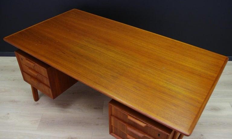 Veneer Omann Jun Writing Desk Classic Teak Vintage For Sale