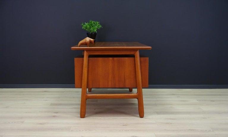 Omann Jun Writing Desk Classic Teak Vintage For Sale 2