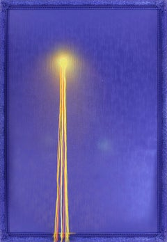 """""""Four Injections of Light"""" mixed media painting by street artist Omar Hassan"""