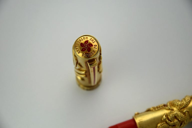 Omas 1997 18-Karat Gold Return to the Motherland Limited Edition Fountain Pen For Sale 11