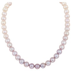 Ombre Cultured Freshwater Pearl Graduated Color Necklace, 14 Karat Gold Clasp