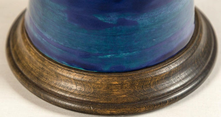 Ombre Glazed Ceramic Table Lamp, 20th Century For Sale 7