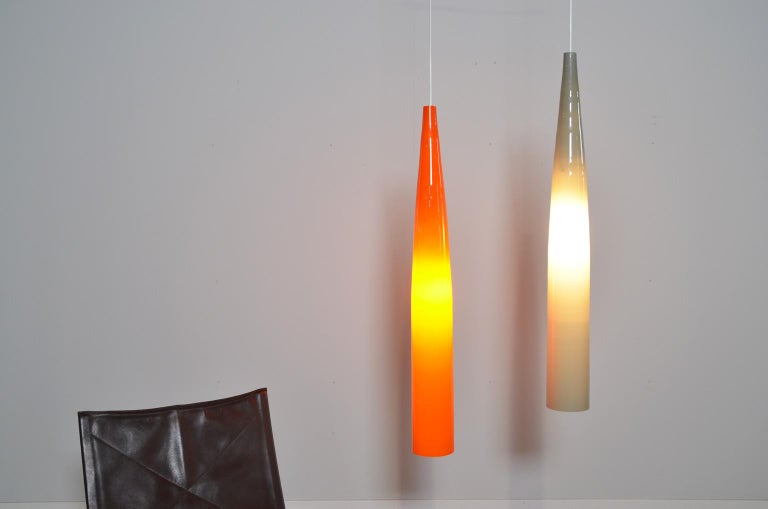 Italian Ombrello Murano Glass Pendant by Alessandro Pianon for Vistosi For Sale