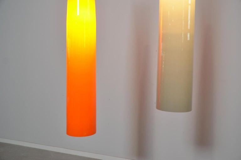 Ombrello Murano Glass Pendant by Alessandro Pianon for Vistosi For Sale 1
