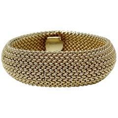 Omega 14k Gold Hidden Watch Bracelet