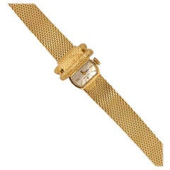 Omega 14 Karat Yellow Gold Ladies Bracelet Watch