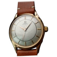 Omega 18k Rose Gold Men's ref.2584 Bumper Automatic c1947 Swiss Vintage LV949TAN