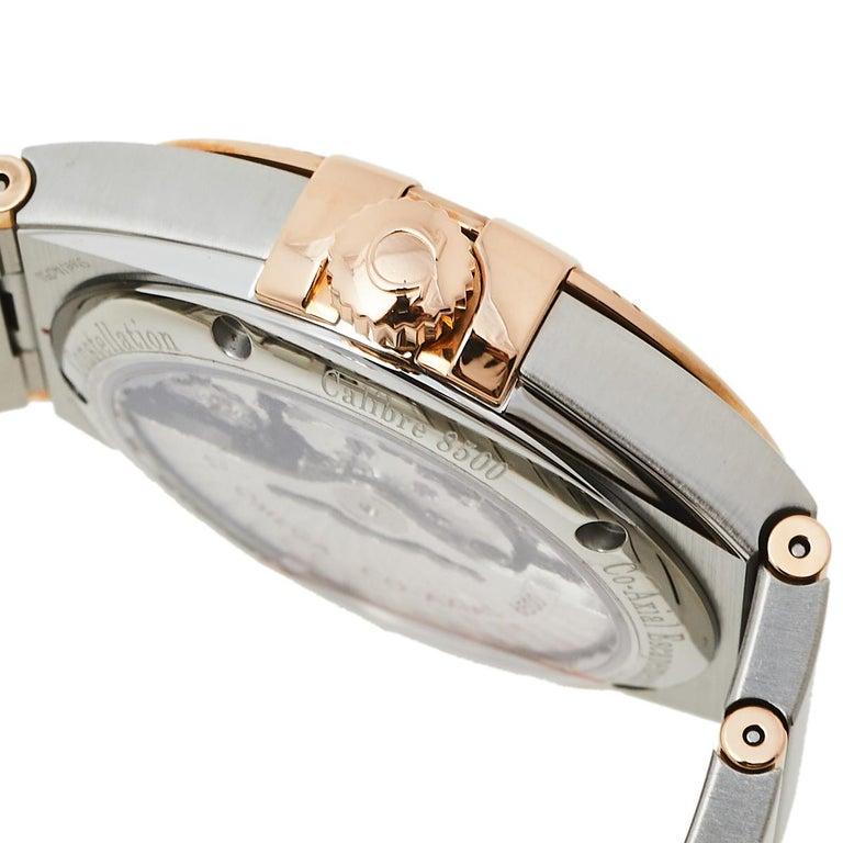 Omega 18K Rose Gold & Stainless Steel Constellation Men's Wristwatch 38 mm 1