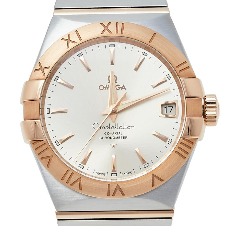 Omega 18K Rose Gold & Stainless Steel Constellation Men's Wristwatch 38 mm 2