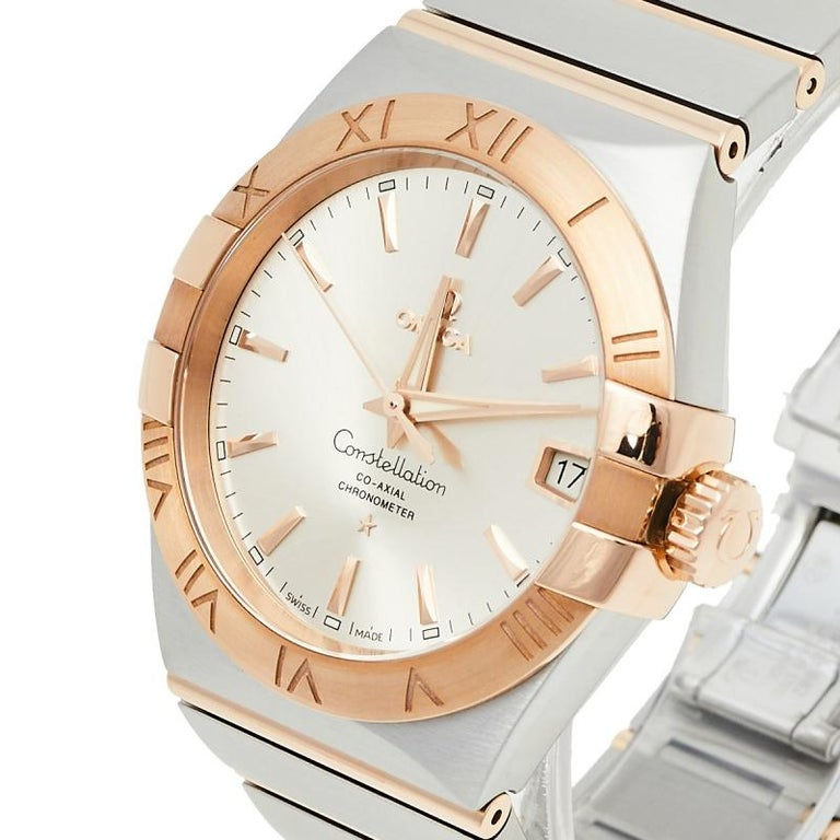 Omega 18K Rose Gold & Stainless Steel Constellation Men's Wristwatch 38 mm 3