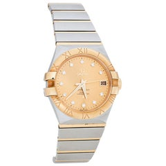 Omega 18K Yellow Gold Constellation Co-Axial Chronometer Men's Wristwatch 35 m