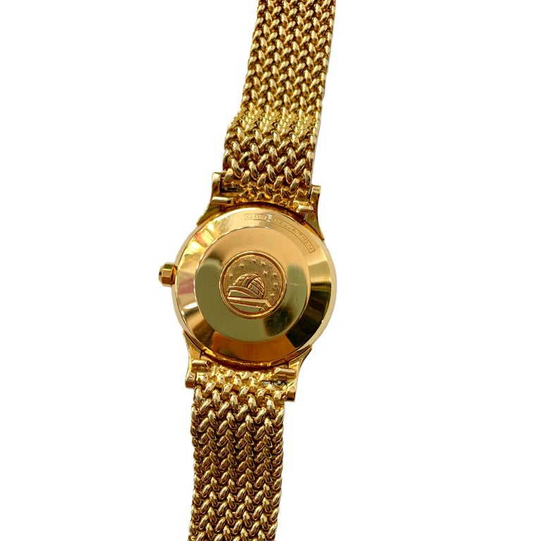 Omega 18 Karat Yellow Gold Men's Watch In Good Condition In Los Angeles, CA