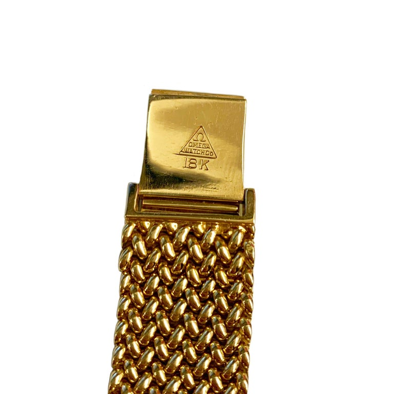 Omega 18 Karat Yellow Gold Men's Watch 2