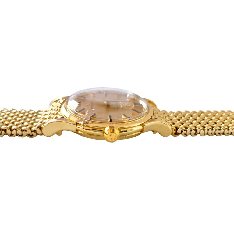 Omega 18 Karat Yellow Gold Men's Watch 3